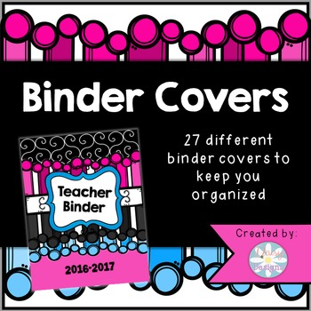 """2016-2017 Binder Covers - The """"Amanda"""" Edition (Covers Only)"""