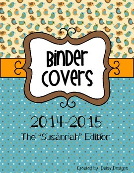 """2014-2015 Binder Covers - The """"Susannah"""" Edition"""