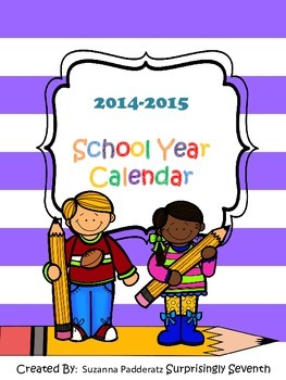 2014-2015 School Year Calendar Pack
