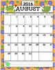 2016-2017 Calendar Set Frog Theme