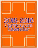 2015-2016 Editable Curriculum Planning Calendar {Chevron B