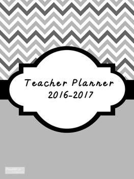 2016-2017 Teacher Lesson Planner (Editable-Black & White)