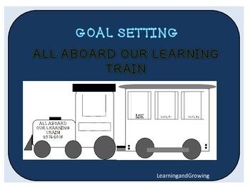 Goal Setting Train Bulletin Board BTS