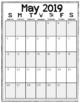 2016-2017 Monthly Calendars (Black and White/Vertical)