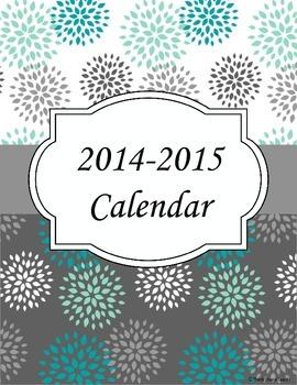 2014-2015 Planner Calendar