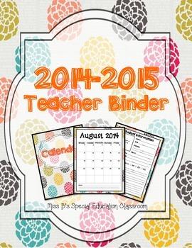 2014-2015 Pom Themed Teacher Binder Bundle
