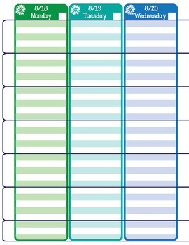 2014 - 2015 colorful planning pages