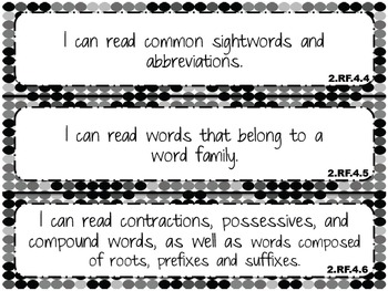 """2014 Indiana Standards  """"I can"""" statements for 2nd Grade R"""