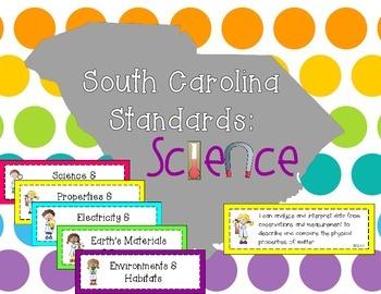 2014 South Carolina Science Standards for Third Grade SC 3