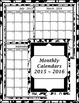 2016-17 Monthly Calendars/Weekly Planning Maps Black and W