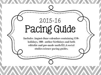 2015-16 Pacing Guide Bundle