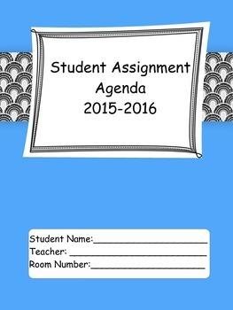 2015-16 Student Agenda in BW Glitter Arches