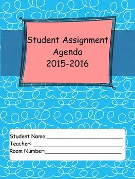 2015-16 Student Agenda in Blue Curls