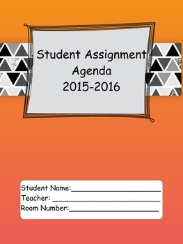2015-16 Student Agenda in BW Glitter Triangles