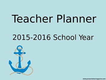 2015-16 schol year planner