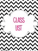 2015-2016 Black Chevron EDITABLE Lesson Planner