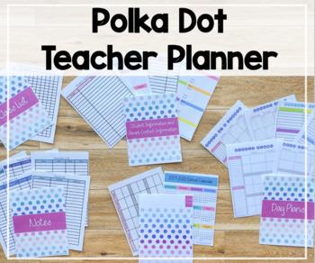 2016-2017 Day Planner (Polka Dot Theme)