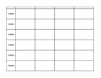 2015 - 2016 Digital Lesson Plan Template (Excel w/ Google