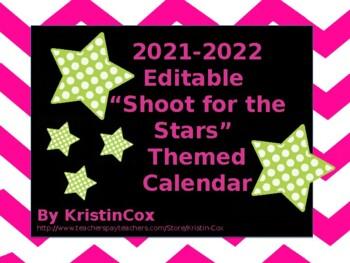 2016-2017 Editable 'Shoot for the Stars' Calendar