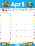2015-2016 Editable Teacher Calendars