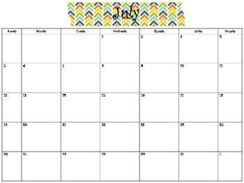 2015-2016 Monthly Calendar BGOY