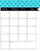 2016-2017 Monthly Calendar Blue Pattern