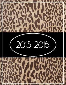 2015-2016 Monthly and Weekly Planner