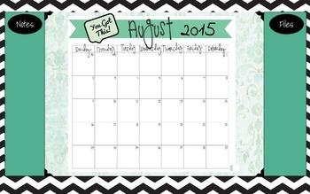 2015-2016 School Desktop Calendar