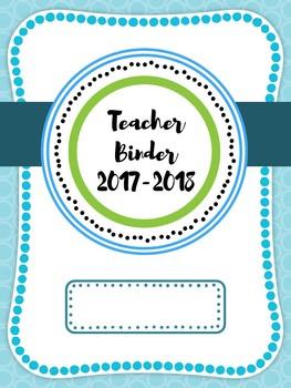 2015-2016 Teacher Binder Covers