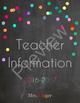 Editable Teacher Planner, Lesson Planner, & Teacher Binder in PDF