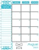2016-2017 Teal & Gray Teacher Organizer Binder: Planner, G