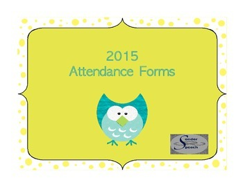 2015 Attendance Forms