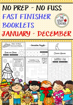 Fast Finisher Resources for January - December *No Prep -
