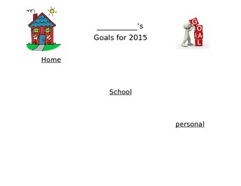 2015 New Years Resolution Goal Setting Sheet