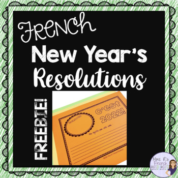 French New Year's Resolutions writing activity