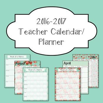 2016-2016 Teacher Calendar/ Planner