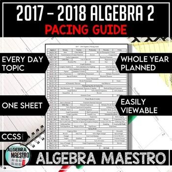 2016-2017 Algebra 2 Pacing Guide