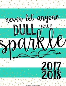 2016-2017 All That Glitters Teacher Planner (Editable)