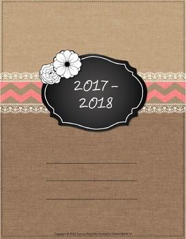 2016-2017 Burlap & Lace Teacher Binder, Planner - free upd