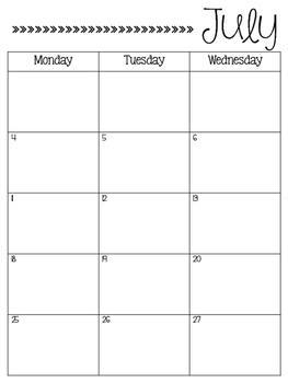 2016-2017 Calendar FREEBIE
