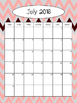 2016-2017 Calendar - Rose and Gray Chevron