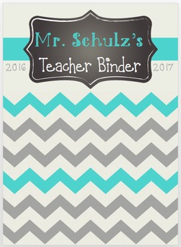 2016-2017 Chevron Teacher Binder EDITABLE