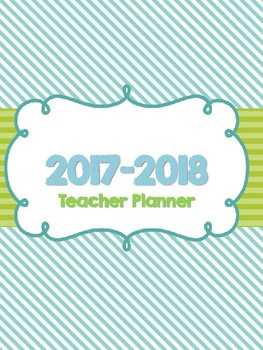 2016-2017 Colorful Inspirational Teacher Planner