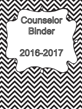 2016-2017 Counselor Binder/Planner Cover Page