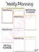 2016-2017 Customizable Teacher Planner - Pink Green Gold (