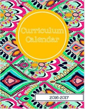 2016-2017 EDITABLE Curriculum Planning Calendar