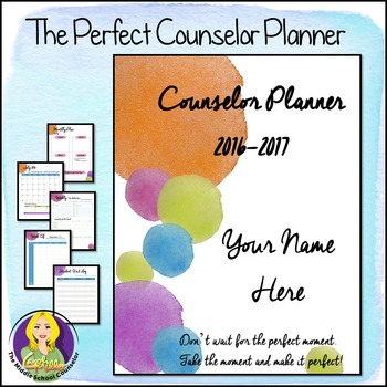 2016-2017 Editable Counselor Planner Binder-- Dots Theme