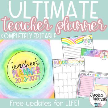 2016-2017 Editable Teacher Planning Binder {Bright and Bol