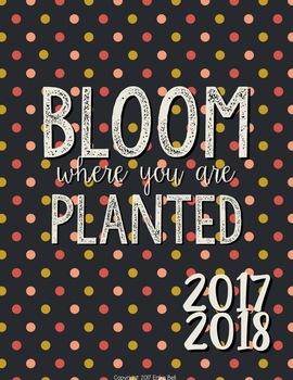 2016-2017 Japanese Garden Teacher Planner (Editable)