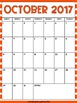 2016 - 2017 Monthly Calendar - Bright